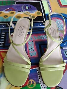 NWT-TALBOT-039-S-WOMANS-STRAPPY-SANDAL-1-1-4-034-HEEL-LIME-PATENT-LEATHER-6B-CUTE