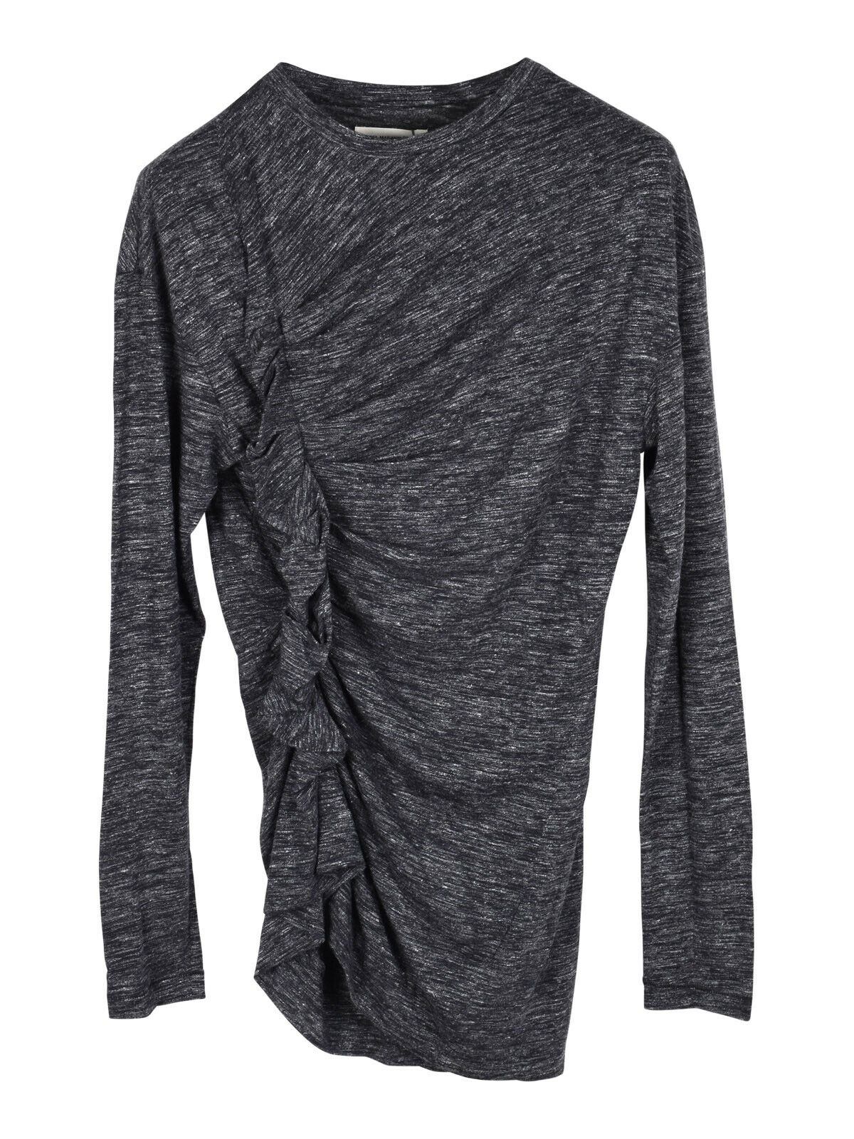 Isabel Marant Etoile grau Malo top with side ruffle