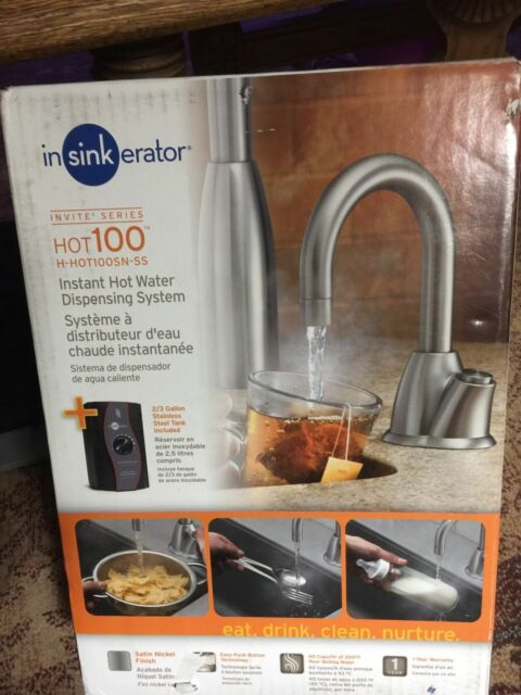 Insinkerator H HOT100SN SS Invite Series Instant Hot Water Dispenser Sat.  Nickel