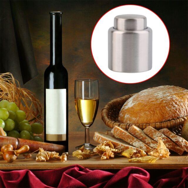 Stainless Steel Sealed Pump Champagne Cork Wine Storage Bottle Stopper Cap FE