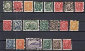 Y4632-CANADA-1931-1933-MINT-SEMI-MODERN-LOT-CV-465