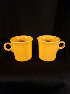 Fiesta-Ware-Coffee-Mug-Tangerine-Orange-Ring-Tom-And-Jerry-Handle-Homer-Cup