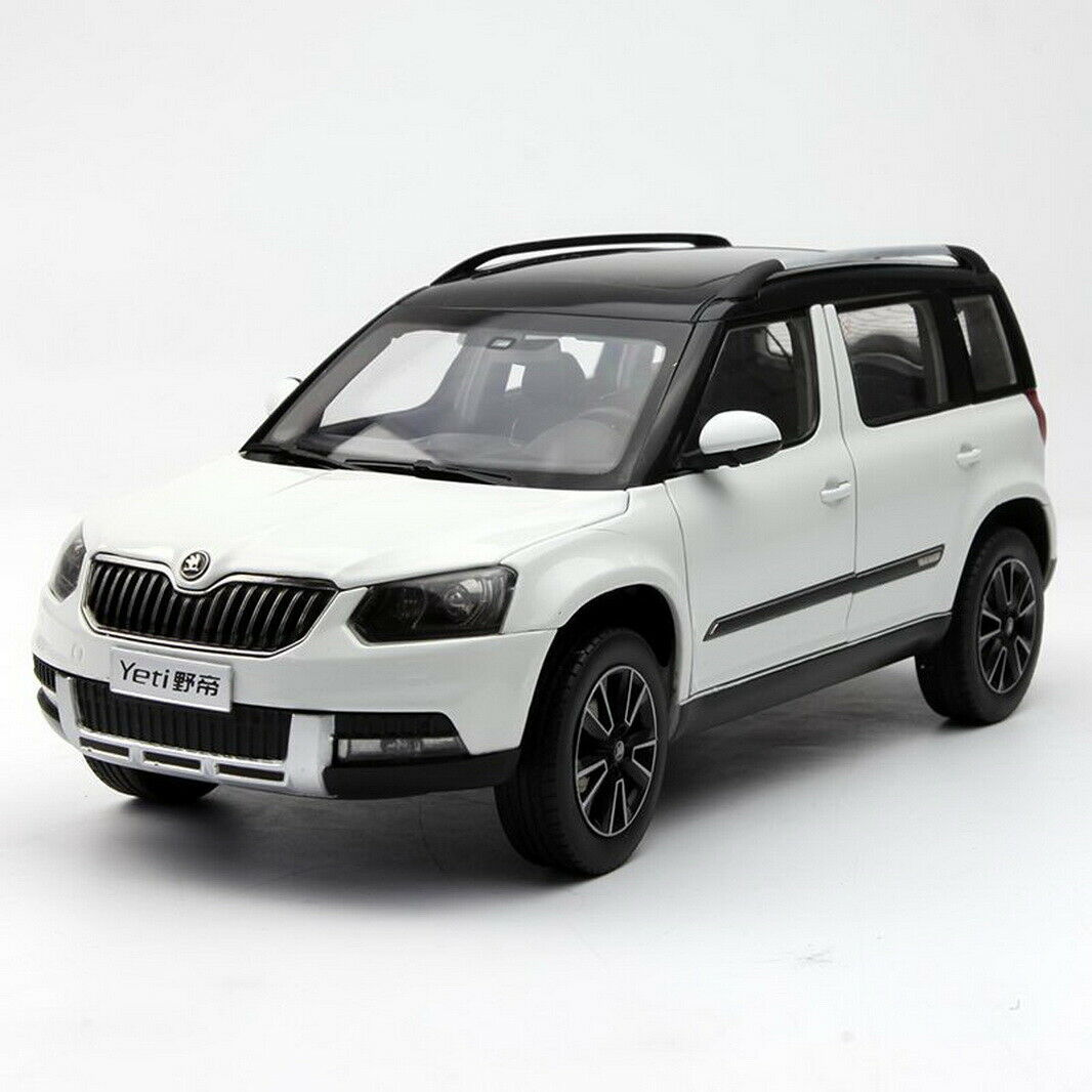 1/18 Scale VW Volkswagen Skoda Yeti SUV White Diecast Car Model Collection