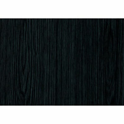 3 Rolls Sticky Back Plastic Black Ash Wood 67 5cm X 2m