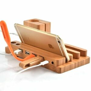 Wood-Charge-Charging-Dock-Stand-Holder-For-Apple-Watch-iPhone-8-i-Pad-Mini-Air-2