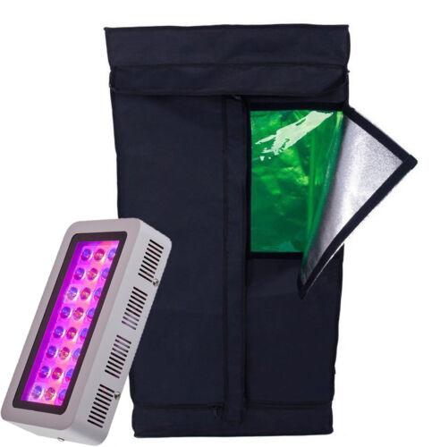 TopoGrow 300W//600W LED Grow Light+Grow Tent Indoor Hydroponic System//Plastic