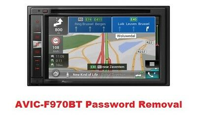 NO TOOLS NEEDED Password Removal Service For Pioneer AVIC Z Series Units