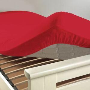 Drap-housse-140x190cm-034-ROUGE-COQUELICOT-034-100-Coton-57-Fils-cm-Bonnet-25cm