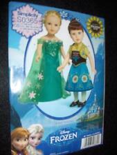 "18"" DOLL NEW Simplicity 1088 S0365 Pattern American Girl Frozen Anna Elsa"