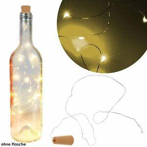 LEDs-Drahtlichterkette-Micro-LED-Lichterkette-mit-Batterien-Flaschenstopfen-Neu