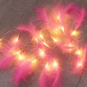 Led Fluffy Feather Fairy String Lights Battery Operated Bedroom Home Decor Ebay