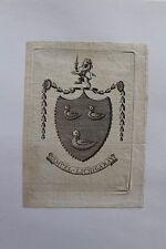 ✒ EX LIBRIS Samuel Lichigaray (né en 1751 ?) - armorié