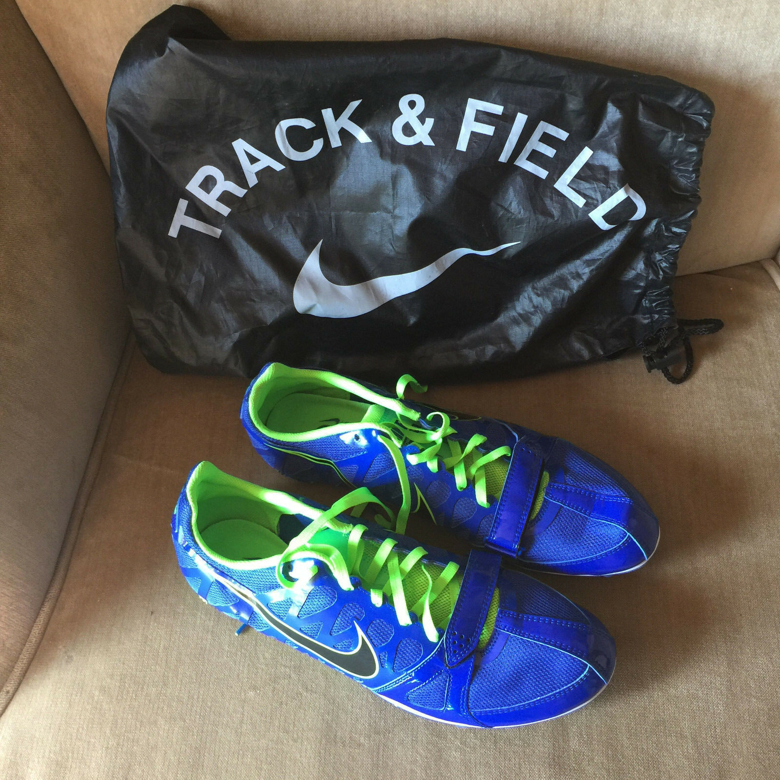 Nike Track & Field Spikes Shoes Green Blue Men's 11.5