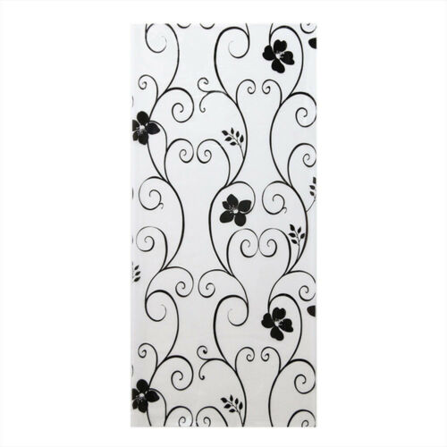 Frosted Privacy Stickers Iron Decor Glass Stickers Black/&white Wrought Flower