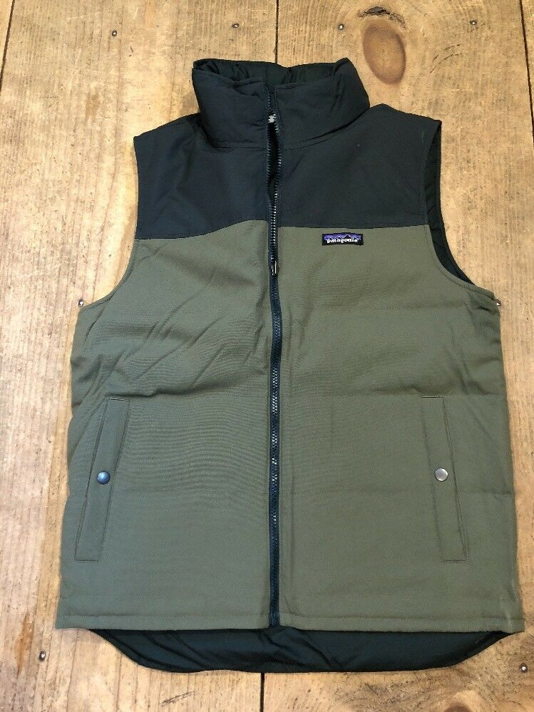 PATAGONIA Bivy Reversible Down Fill Vest Industrial Grün Größe Small NEW 189