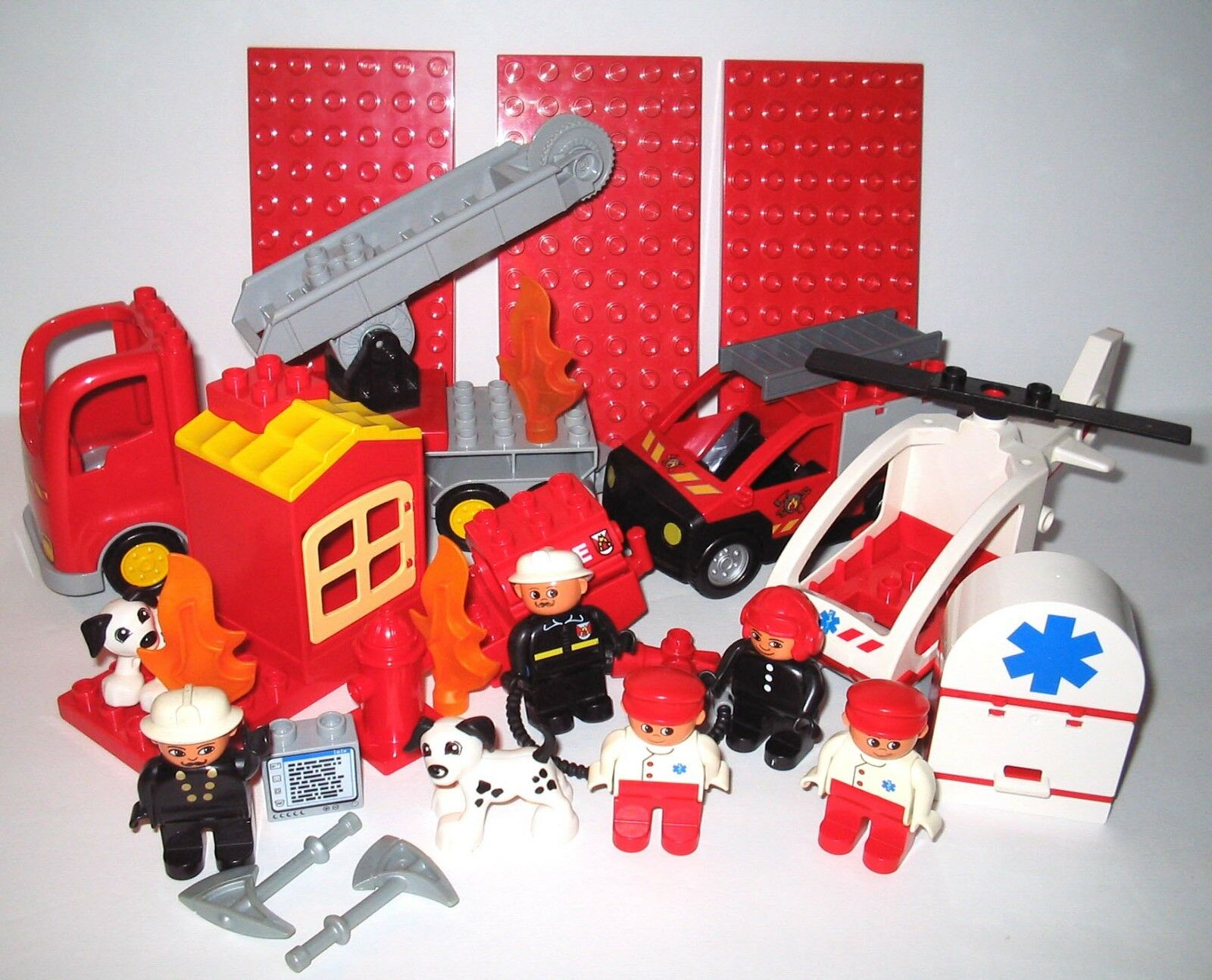 Bundled Lot DUPLO Fire & Rescue Pieces
