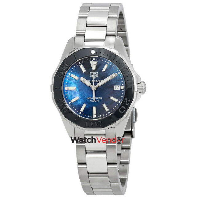 8d70a6041dcb Tag Heuer Aquaracer Blue Mother of Pearl Dial Ladies Watch WAY131S.BA0748