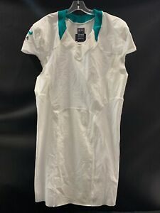 MIAMI-DOLPHINS-TEAM-ISSUED-BLANK-ON-FIELD-WHITE-JERSEY-SZ-48-6-W-CUT-SLEEVES