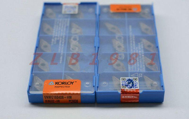 10Pcs New KORLOY CNC blade VNMG160408-HM PC9030 VNMG332-HM