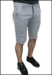 Pantacourt Homme Short Bermuda Gris Slim