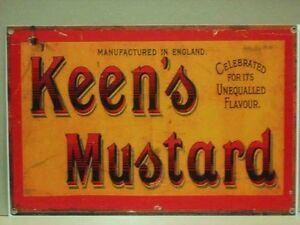 Keens-Mustard-Metal-Sign-449