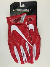 Nike Adult Superbad 4 Padded Football Gloves Red White Xl X Large
