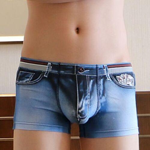 mens Jeans look boxer shorts Mens jeans underwear bovershorts