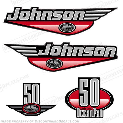 Johnson 1999-2000 Oceanpro 50hp Outboard Kit Aufkleber - Wählen Sie Farbe