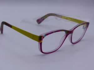 694cd41a1a8 YOUPI YOUTH EYEGLASSES FRAMES 46-16 12 YELLOW GLASSES PINK W  COLOR ...