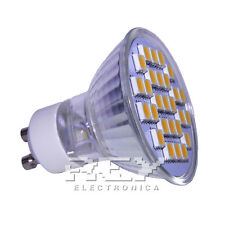 Bombilla Foco Bi-pin GU10 LED Luz 3200k 27 LED 5050 SMD d24