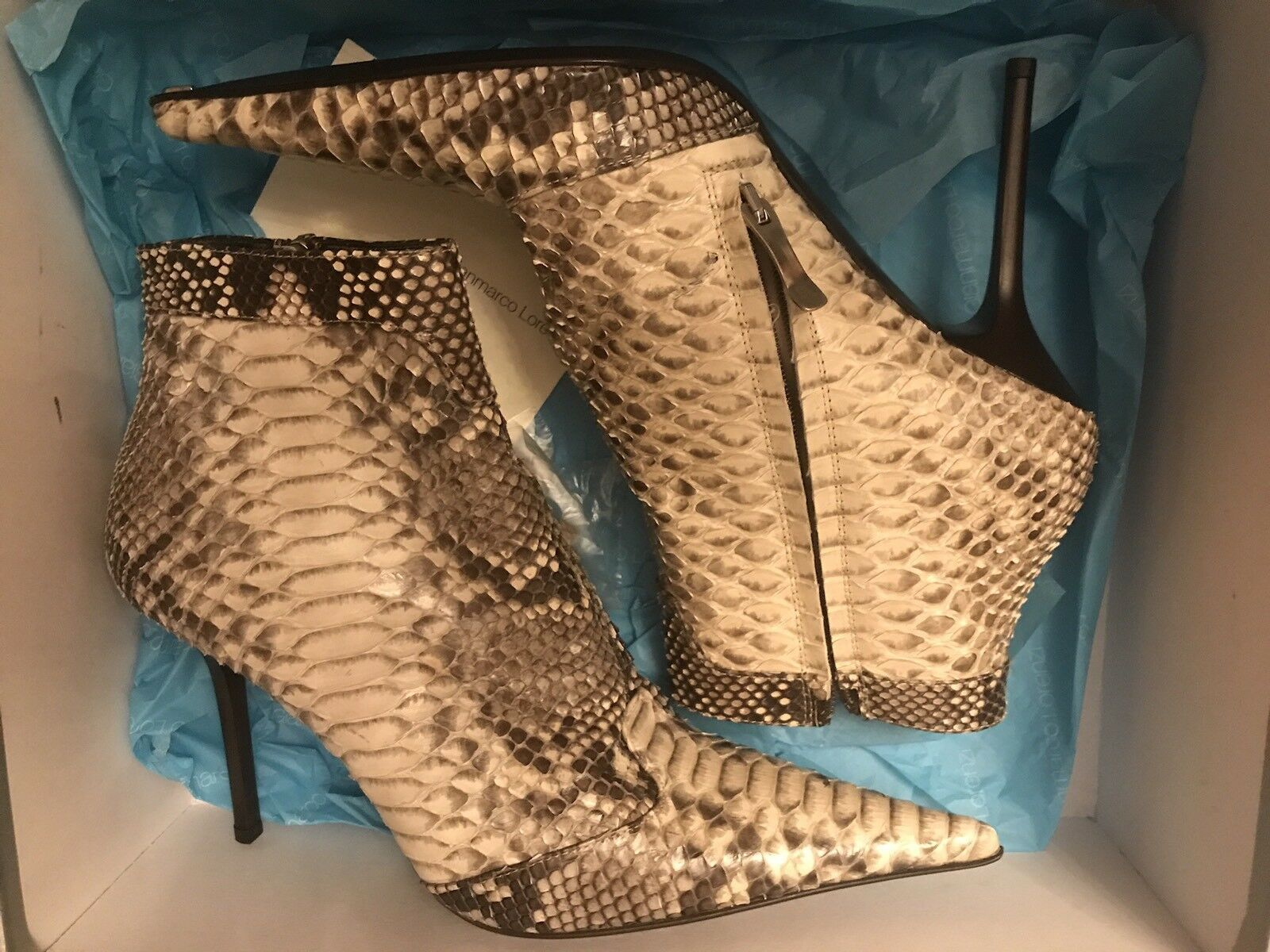 GIANMARCO LORENZI Damen Stiefeletten High Gr.38 Heels Stiletto Gr.38 High ad6cff