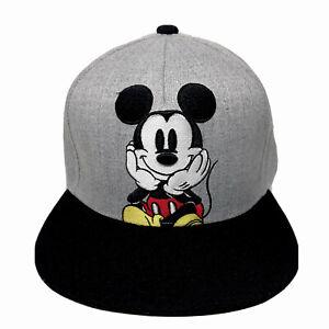 Con-Licencia-De-Disney-Mickey-Mouse-Bordado-Gorra-Gorra-Sombrero-Gris-de-un-tamano-de-la-bola