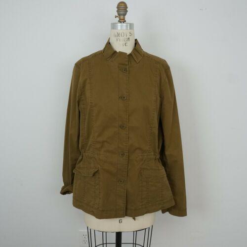 Eileen Fisher Safari Jacket Sz L Olive Green Khaki