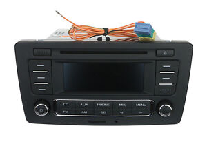 oem skoda octavia stereo radio cd mp3 player with. Black Bedroom Furniture Sets. Home Design Ideas