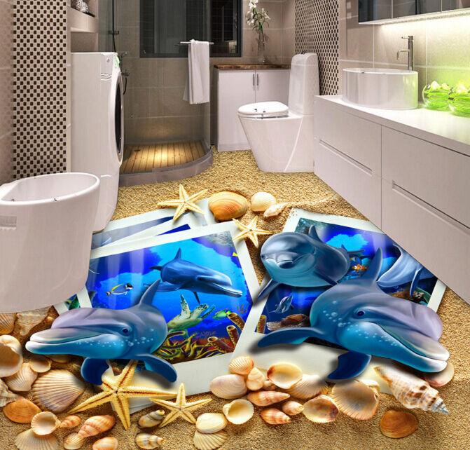 3D Oceanici Delfino 88 Pavimento Foto Wallpaper Murales Muro Stampa Decalcomania