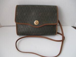 Image is loading Vintage-Christian-Dior-Monogram-Leather-Shoulder-Cross-body - c17eb29f19
