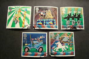 GB-2002-Commemorative-Stamps-Circus-Very-Fine-Used-Set-UK-Seller