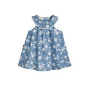 220e084fa4e Image is loading First-Impressions-Baby-Girl-Sleeveless-Floral-Print-Denim-