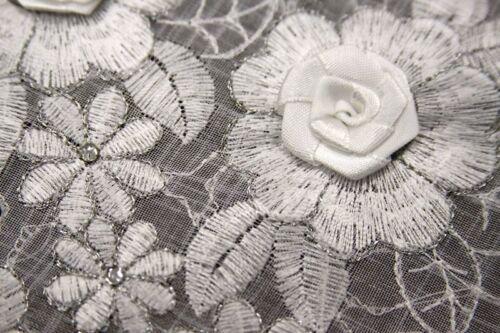 "Elegantlinen Handmade Flower Lace Embroidery Organza Tablecloth 72x144/"""