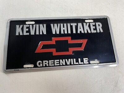Vintage Kevin Whitaker Chevrolet Greenville, SC Metal ...