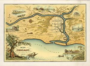 1926 PICTORIAL map Cape Cod shows cities fish border the map POSTER ...