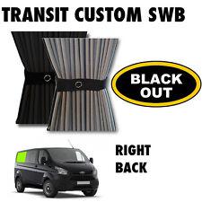 Black Out-tránsito Custom Van Cortina Kit-Right Back Swb Cortinas