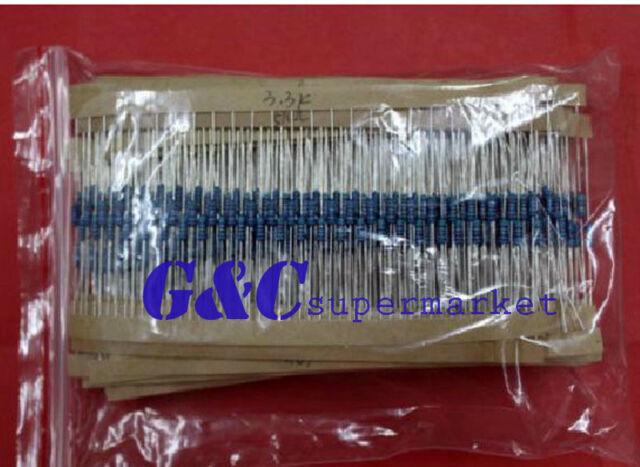 2pcs 1/4w Resistance 1% Metal Film Resistor Bag 30 kinds Each 20 Total 600pcs