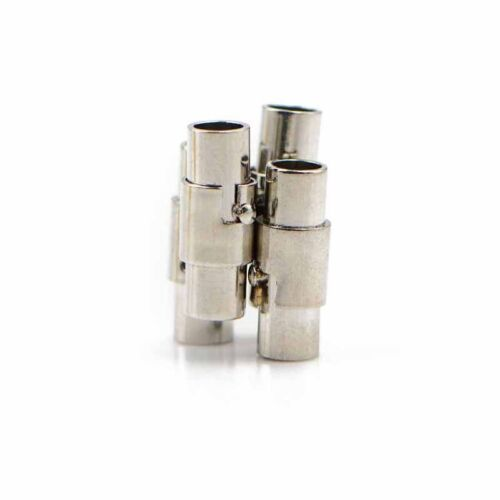 4X 4mm magnetic clasps stainless steel magnetic clasps with safe snap lock HICA