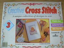 CREATIVE CROSS STITCH MAGAZINE No 3 BIRTHDAY HERBS ROSES BLUE BOUQUET WELCOME ++