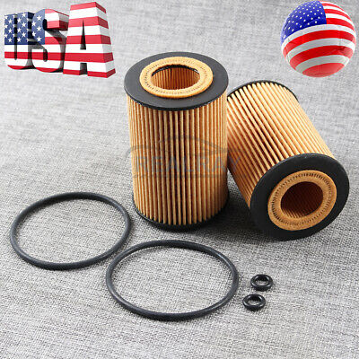 2x Engine Oil Filter Kit Replace Hengst E340H D247 for Audi A3 VW Volkswagen TDI