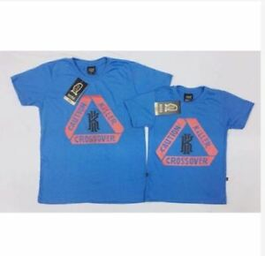 finest selection 961f6 48e11 Details about KYRIE FATHER & SON SHIRT S-L (EO) - BLUE (KID'S SIZE SMALL)