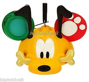 image is loading new disney parks pluto mickey mouse ear hat - Mickey Mouse Ornaments Christmas