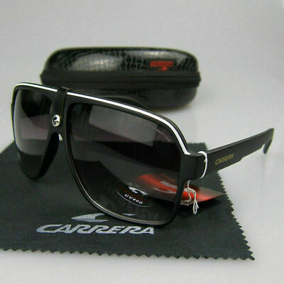 New Fashion Men Women Retro Sunglasses Unisex Square Matte Frame Carrera Glasses