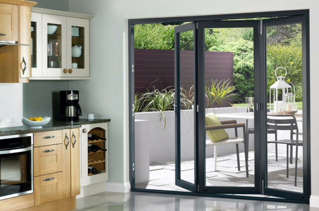 Select 2390mm (8ft) Prefinished Grey Bi-fold Doors